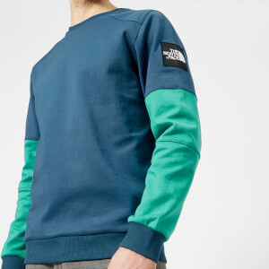The North Face Men's Fine Crew Sweatshirt - Blue Wing Teal/Porcelain Green