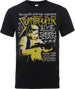 T-Shirt Homme Stormtrooper Rock Poster - Star Wars - Noir
