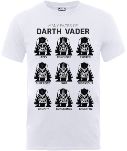 T-Shirt Homme Les Visages de Dark Vador - Star Wars - Blanc
