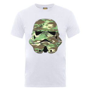 T-Shirt Homme Stormtrooper Camouflage - Star Wars - Blanc