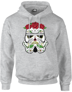 Star Wars Day Of The Dead Stormtrooper Hoodie - Grijs