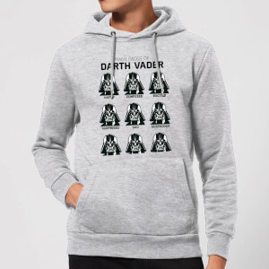 Felpa con cappuccio Star Wars Many Faces Of Darth Vader Pullover- Grigio