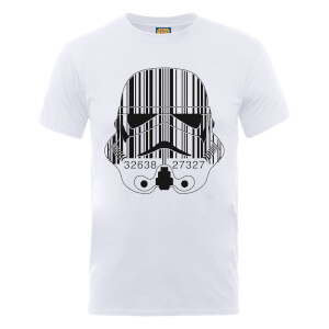 Star Wars Stormtrooper Barcode T-Shirt - White