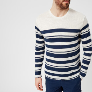 Orlebar Brown Men's Sammy Long Sleeve Top - Cloud/Navy