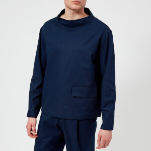 Lemaire Men's Stand Collar T-Shirt - Chinese Blue