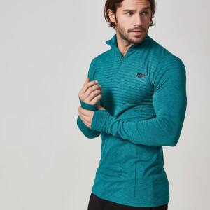 Haut zippé ¼ Sans Coutures Myprotein pour Hommes – Noir Marne