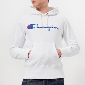 Champion Men's Overhead Script Hoody - White
