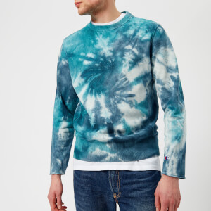 Champion Men's 68 Weave Crew Tie Dye Sweatshirt - Teal