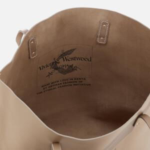 Vivienne Westwood Women's Made in Kenya Leather Shopper Bag - Beige: Image 5