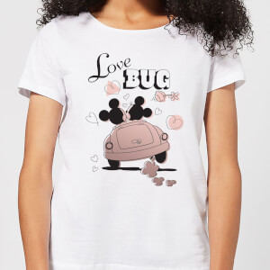 T-Shirt Femme Mickey Mouse et Minnie Love Bug (Disney) - Blanc