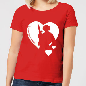 T-Shirt Femme Leia I'd Rather Kiss A Wookie (Star Wars) - Rouge
