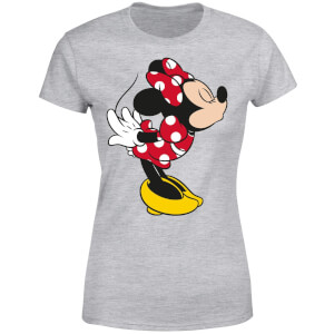 Disney Mickey Mouse Minnie Split Kiss Women's T-Shirt - Grey