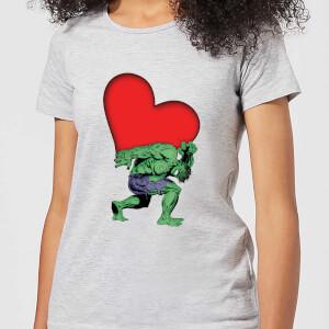 T-Shirt Marvel Comics Hulk Heart - Grigio - Donna