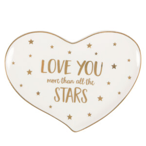 Sass & Belle Monochrome Love You Stars Jewellery Dish