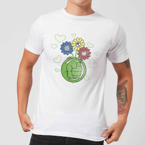 Marvel Avengers Hulk Flower Fist T-Shirt - White