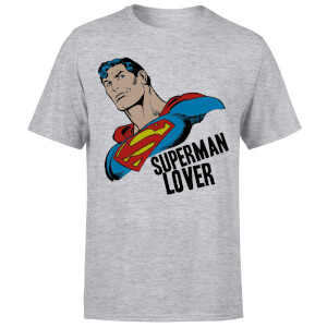 T-Shirt Homme Superman Lover (DC Comics) - Gris