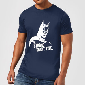 T-Shirt DC Comics Batman The Strong Silent Type - Navy