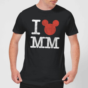 T-Shirt Homme I Heart MM Mickey Mouse (Disney) - Noir