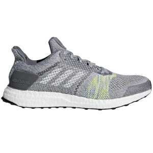 adidas Men's Ultra Boost ST Running Shoes - Grey/Green