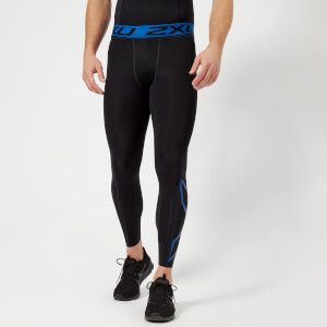 2XU Men's Accelerate Compression Tights - Black/Blue