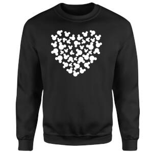 Disney Mickey Mouse Heart Silhouette Sweatshirt - Black