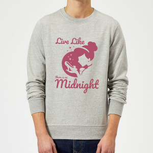 Sudadera Disney Cenicienta Live Like There Is No Midnight - Hombre - Gris