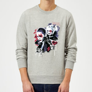 DC Comics Suicide Squad Harleys Puddin Pullover - Grau