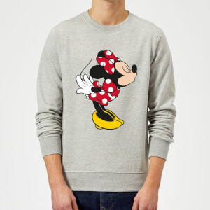 Disney Mickey Mouse Minnie Split Kiss Pullover - Grau
