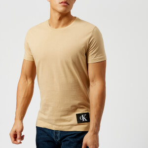 Calvin Klein Jeans Men's Takoda Patch Logo Crew Neck T-Shirt - Safari