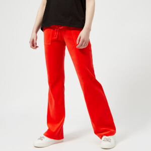 Juicy Couture Women's Velour Del Ray Pants - Red