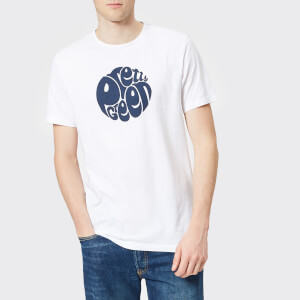 Pretty Green Men's Gillespie Logo T-Shirt - White/Navy