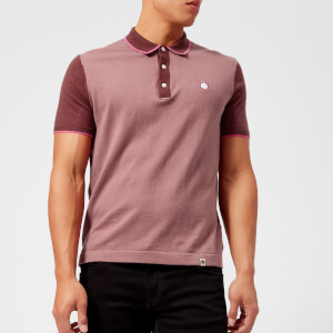 Pretty Green Men's Carlotta Short Sleeve Polo Shirt - Burgundy