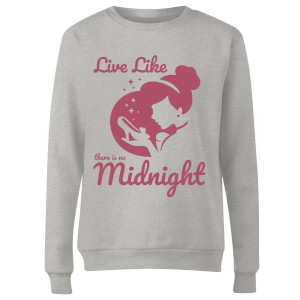 Disney Princess Midnight Women's Sweatshirt - Grey
