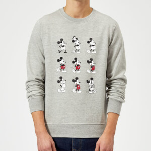 Sweat Homme Mickey Mouse Évolution des Poses (Disney) - Gris