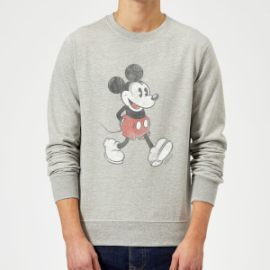Sweat Homme Mickey Mouse qui Marche (Disney) - Gris