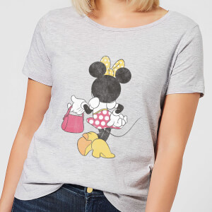 Disney Mickey Mouse Minnie Mouse Back Pose Frauen T-Shirt - Grau