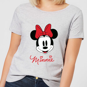 T-Shirt Femme Minnie Mouse Sourire (Disney) - Gris