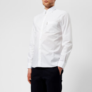 Aquascutum Men's Casper Poplin Long Sleeve Shirt - White
