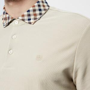 Aquascutum Men's Coniston CC Collar Short Sleeve Polo Shirt - Beige