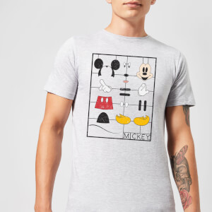 Disney Mickey Mouse Construction Kit T-Shirt - Grau