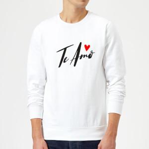 Te Amo Script Sweatshirt - White