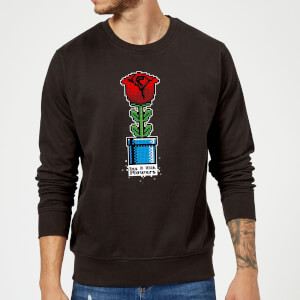 Say It With Flowers Pullover - Schwarz
