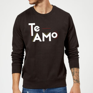 Te Amo Block Sweatshirt - Black