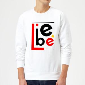 Liebe Block Sweatshirt - White