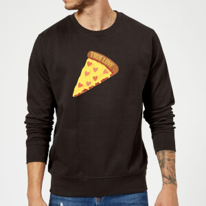 True Love Pizza Pullover - Schwarz