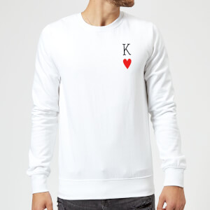 King Of Hearts Pullover - Weiß