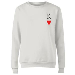King Of Hearts Women's Sweatshirt - White
