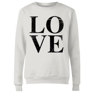 Love Textured Women's Sweatshirt - White