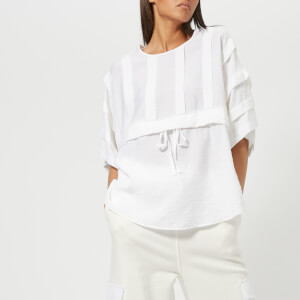 See By Chloe Women's Wide Sleeve T-Shirt with Waist Tie - White