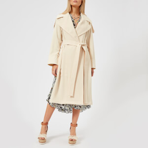 See By Chloe Women's Long Trench Coat Style Jacket - Angora Beige
